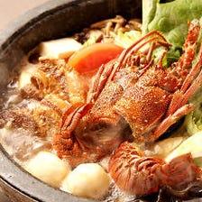ご宴会にイセエビ『らーめんすき鍋』