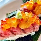 【数量限定】黒毛和牛 炙り寿司(6貫)