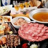 宴会コースには海鮮問屋ふじ丸コラボの鮮魚の刺身も!