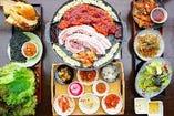 TVで紹介(とびっきり食堂ランキング2位)'手巻き焼肉(4種類のお肉から選べる)コース