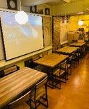 3F 2-35名様 テーブル!プロジェッター完備!大小宴会に大活躍です!お洒落な空間でイマドキのチーズ焼肉・極上しゃぶしゃぶ・本場韓国料理をリーズナブルにお楽しみください!貸切1Fフロアー15名様からOK、最大1F-3Fすべてご利用で貸切105名様まで可能です。