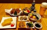 2000円コース つき出し揚げ物だし巻き焼売サラダ(酒類別)