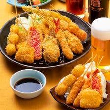人気の「串カツ食べ放題」コース