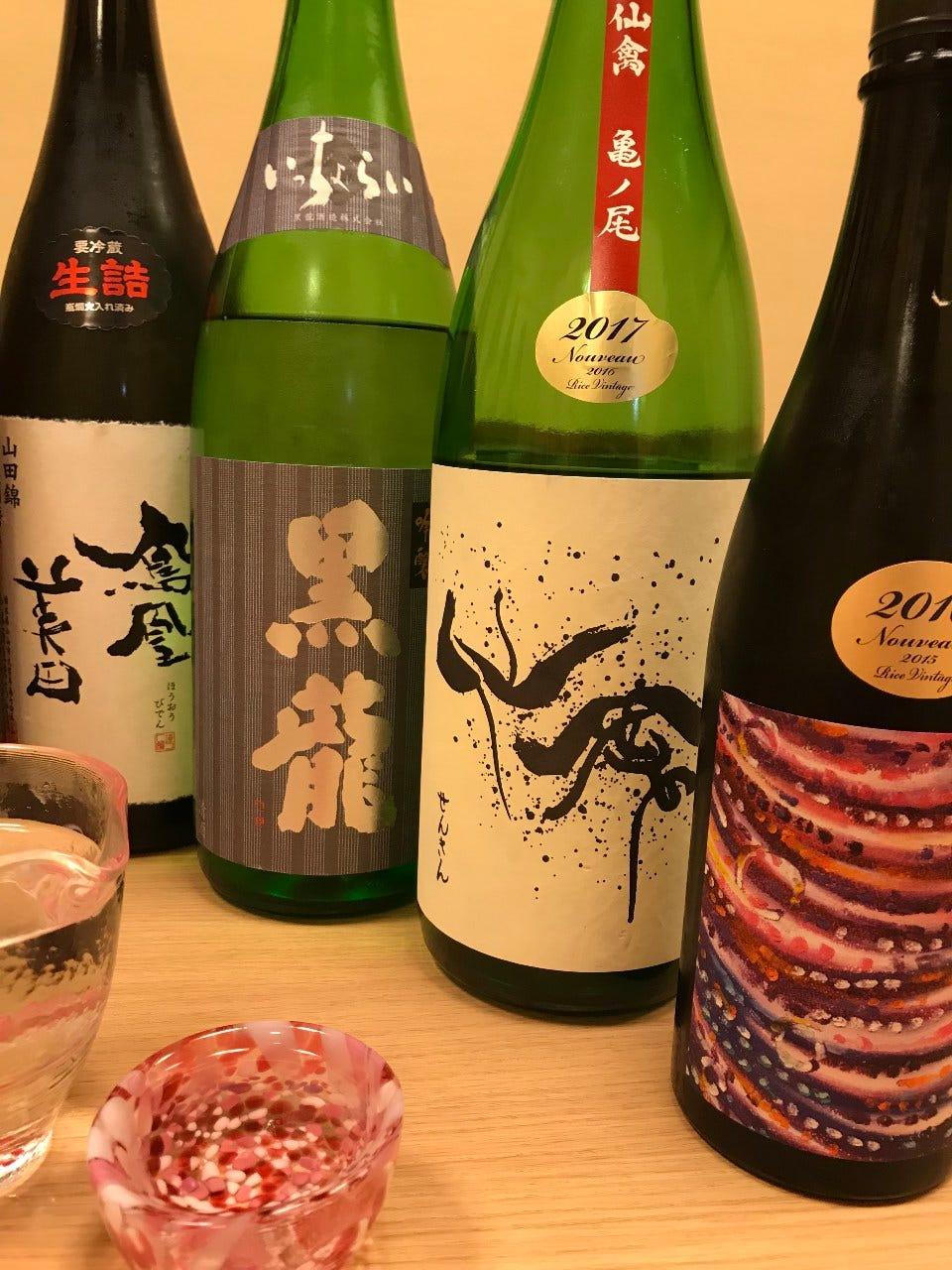 品揃えが豊富な日本酒!40種類ご用意してます!