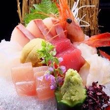 朝どれ鮮魚のお刺身は絶品です!