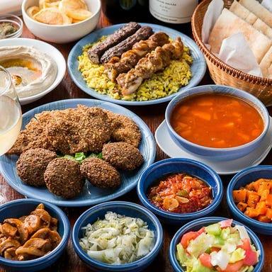 イスラエル料理 食べ放題 シャマイム 江古田 コースの画像