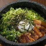 角煮とレタスの石焼チャーハン