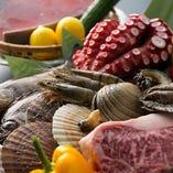 旬で美味しい魚貝・素材を直送仕入れ