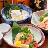 季節の新鮮食材をふんだんに使った自慢の海鮮料理