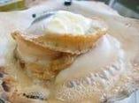 北海道産活ホタテのバター醤油焼き