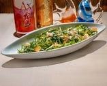 海ほたるの温玉シーザーサラダ
