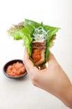 【サムギョプサル】はたっぷりお野菜で超ヘルシー★