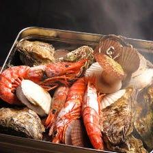 牡蠣と海鮮のがんがん焼き