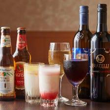 インドビールやワインで乾杯を…