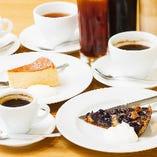 食後にドルチェセットはいかがですか?お好きなデザート&カフェメニューで、ゆったりおしゃべりが◎