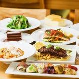 初めてご来店の方にも◎人気前菜盛り合わせと肉・魚料理が付いたいいとこどり『シェフのおまかせコース』