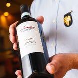 ソムリエ自らがテイスティングし、選びぬいたワインだけをご用意しております