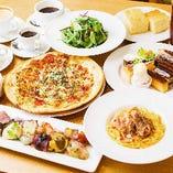 【2時間飲み放題&デザート食べ放題付】欲張り女子集合!ピザ・パスタと食事も充実『女子会プラン』