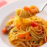 豊富な種類のパスタは、いずれも食材&調理にこだわった逸品