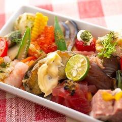 品数30品 使用食材60種以上!「盛りだくさんの季節の前菜盛り合わせ」