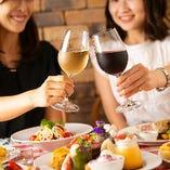 会社帰りの宴会、女子会、歓送迎会など様々なニーズに応えるコース
