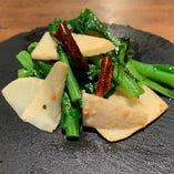 【旬もの 季節料理】菜の花と筍のアー・リオ・オー・リオ