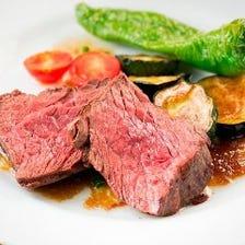 【2時間飲み放題付】ちょっぴり贅沢に満喫 牛ハラミ肉のやわらかステーキコース(全9品)