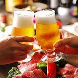日本酒、焼酎、ビールなど和牛と相性抜群なこだわりのお酒も豊富