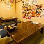 小上がり個室【10名様~12名様】老舗らしい落ち着いた雰囲気のお部屋