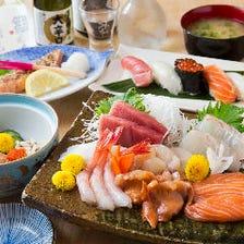 その日の旬な鮮魚を使った絶品お刺身に鮨『宴会コース』全6品|宴会