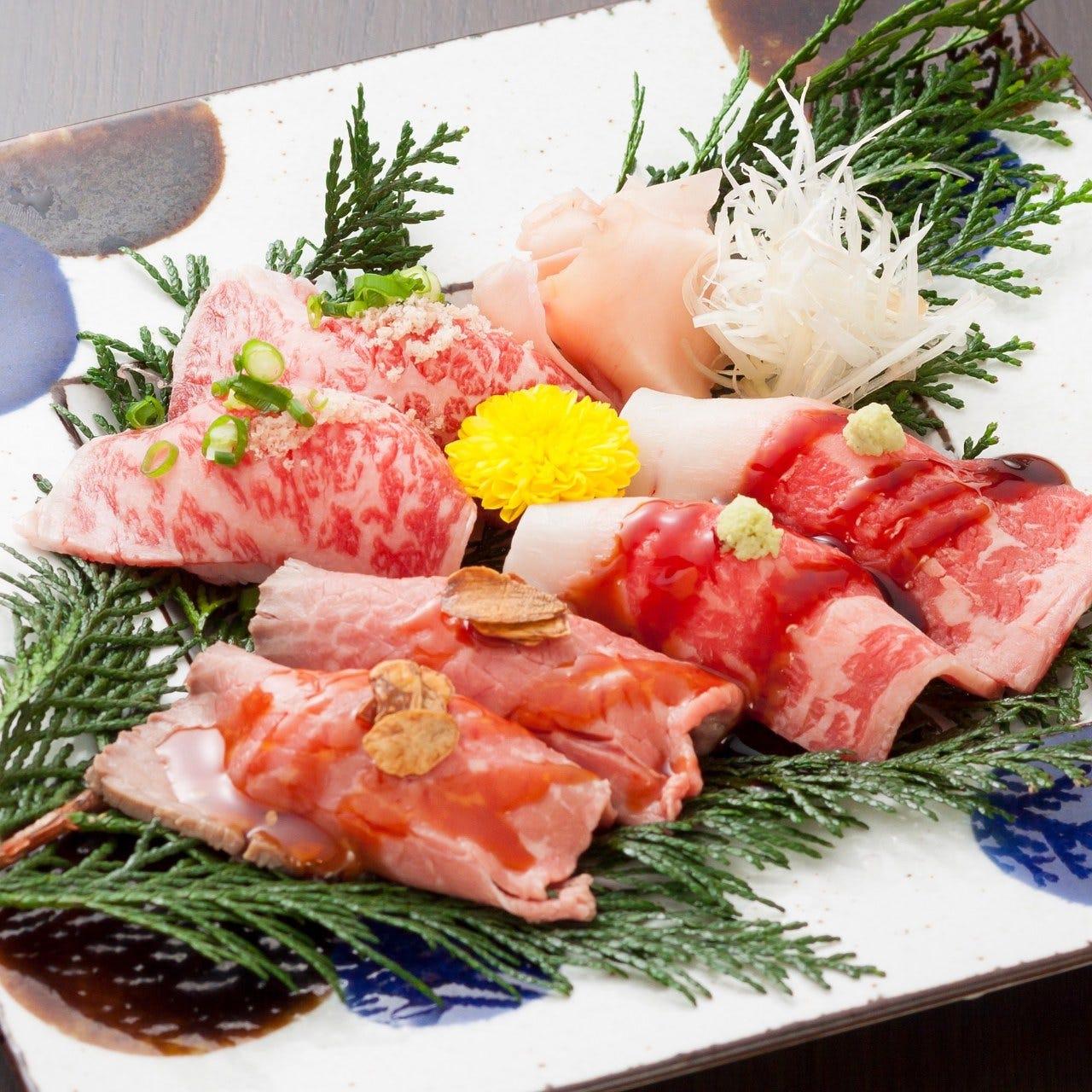 黒毛和牛の和牛炙り寿司♪