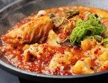 厳選ホルモン&白菜キムチのスタミナ陶板焼き