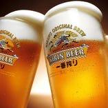 やっぱり生ビールが美味い!!!飲み放題にもビール入ってます!