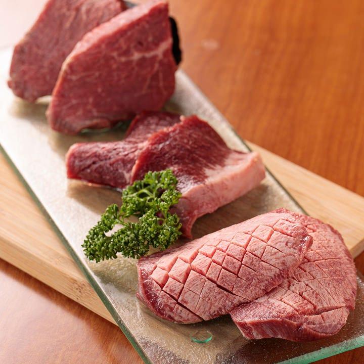 和牛の厳選部位に舌鼓「肉盛り」