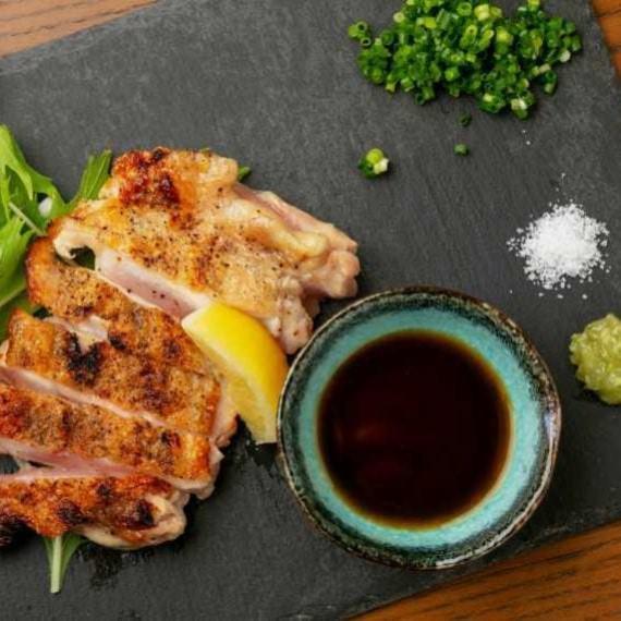 【炭火焼】大山鶏もも肉炙り焼き!!