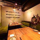 接待や会食などビジネスシーンにも使える大人の空間【テーブル個室(最大12名様)】