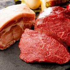 黒毛和牛門崎熟成肉や白金豚Tボーン