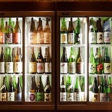 47都道府県の日本酒用意しております。