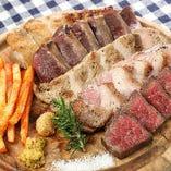 北海道の肉皿5種盛り