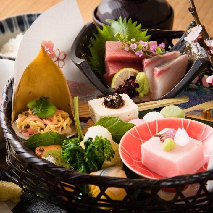 【浜御膳】刺身盛り・旬料理 1,980円(税込)