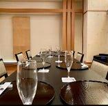 テーブル個室 花