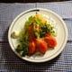 アスパラ野菜サラダ 自家製のにんじんドレッシングがお薦め