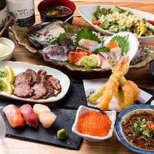 天ぷらと鮮魚を味わう宴会コース
