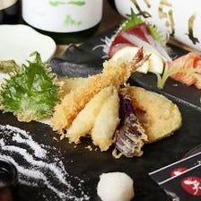 定番から創作の天ぷらに、海鮮刺身◎