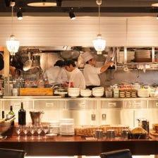 ライブ感溢れる豪華オープンキッチン