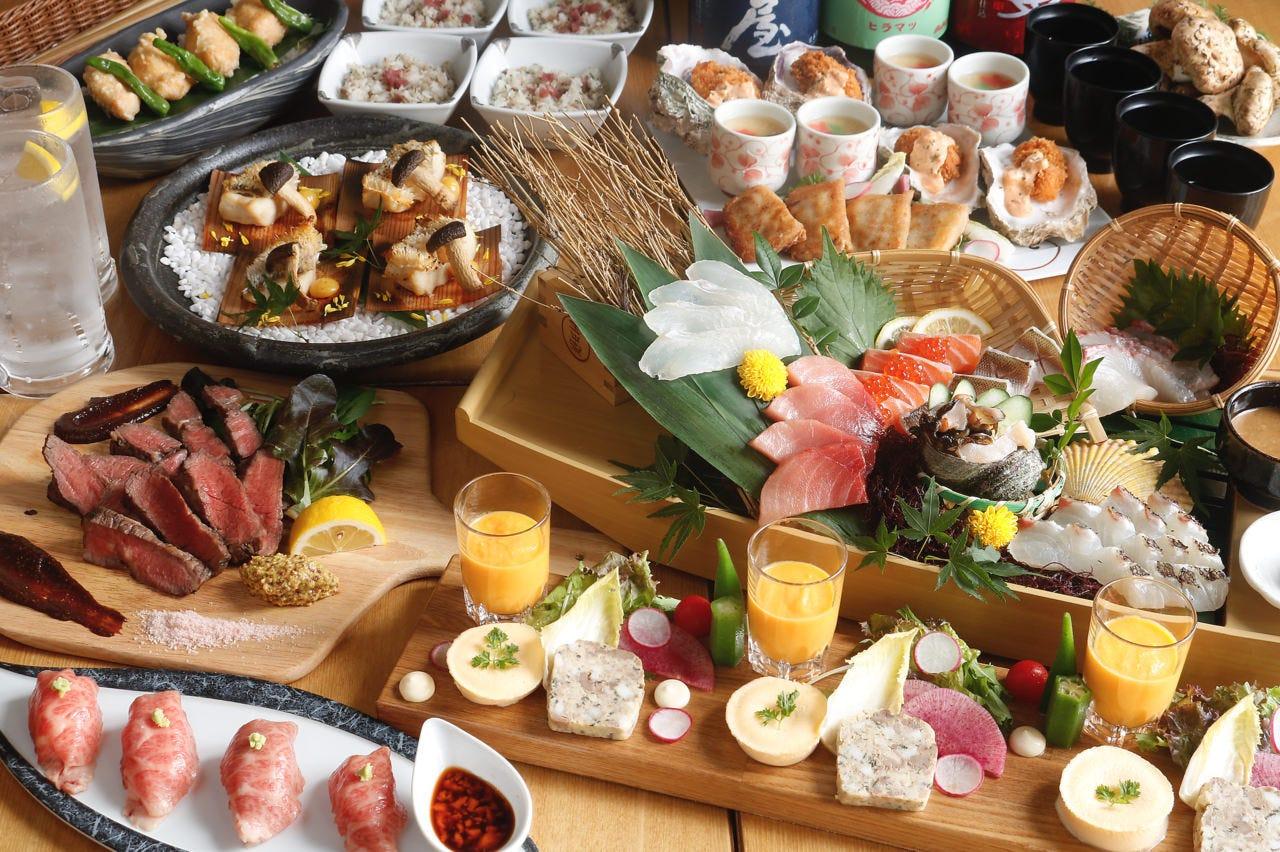 ◆料理長お任せコース◆6000円☆120分飲み放題付☆