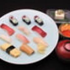 【Cランチ】8貫+ねぎとろ小鉢丼 時短中はランチタイム17時まで