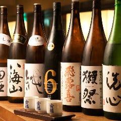 厳選された日本酒の数々♪ 利き酒セットも人気!!