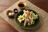 三種きのこ・鰯・海老の天ぷら盛り合わせ