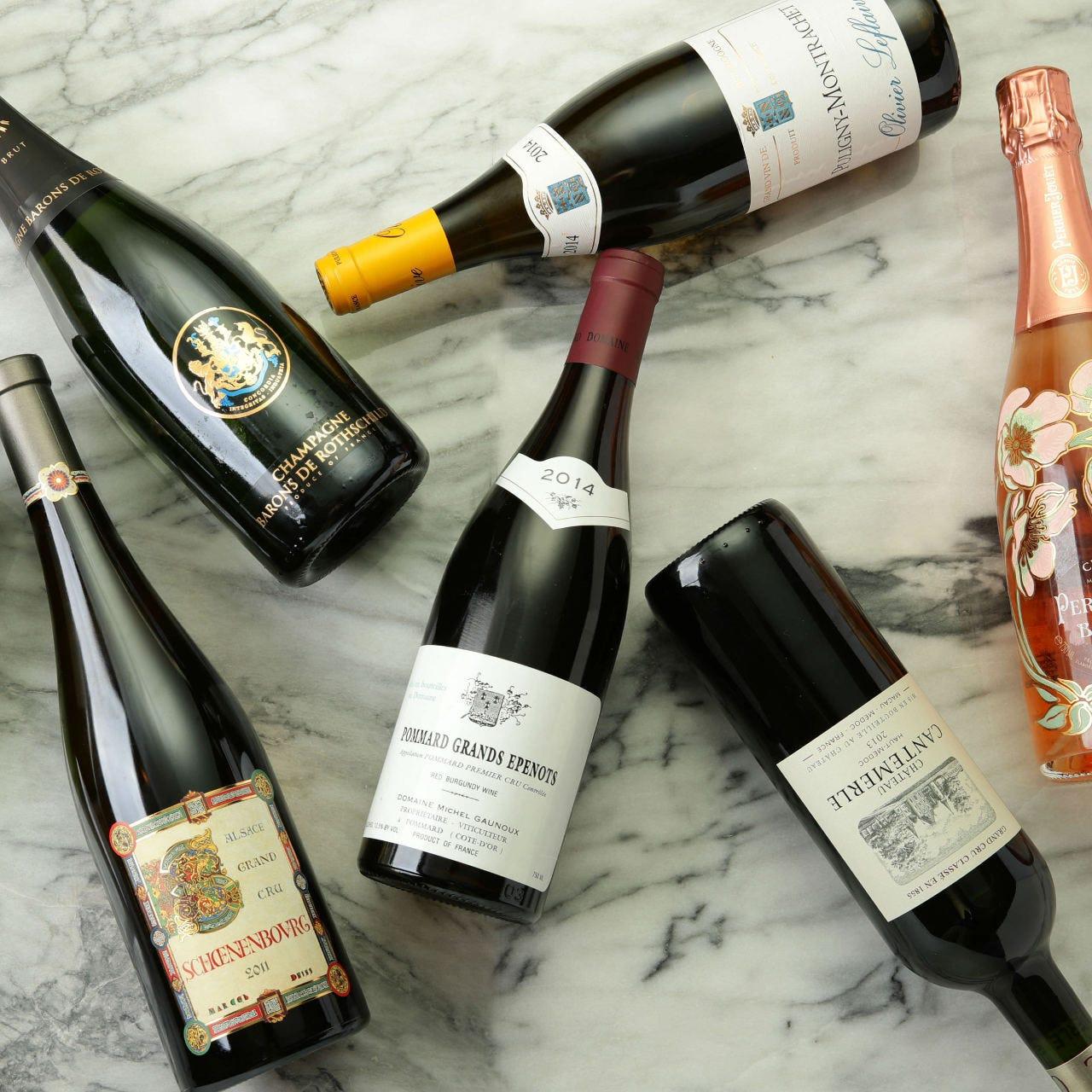 ソムリエ厳選100種以上のワイン